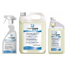 ChemGene HLD4L rebreather disinfectant. High Level Laboratory Surface Disinfectant 5L, 1L, 750ml
