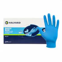 Basics Blue Nitrile Examination Gloves Halyard Health 44752